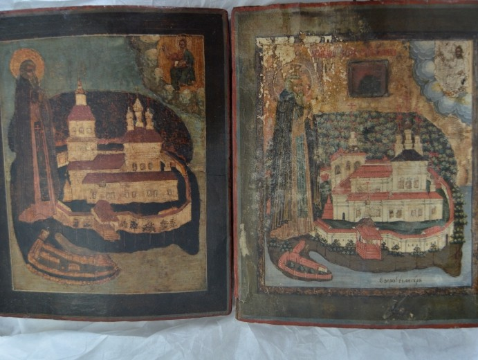 Полицейские передали Тверской митрополии две стародавние иконы