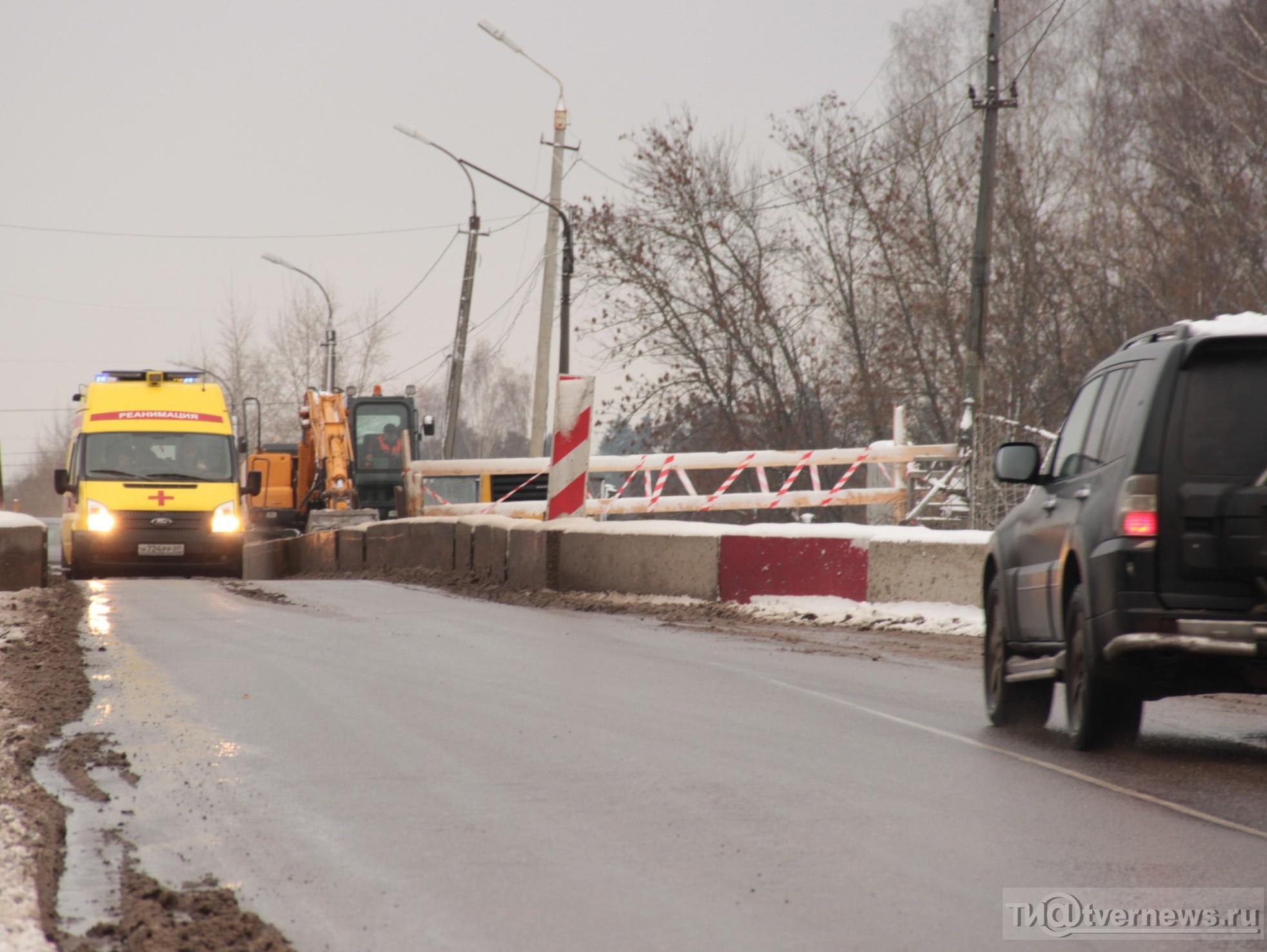 ВТвери намесяц ограничат движение по«горбатому мосту»