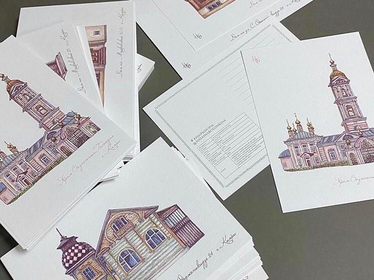 Финансовый аналитик из Москвы рисует открытки с кимрскими домиками