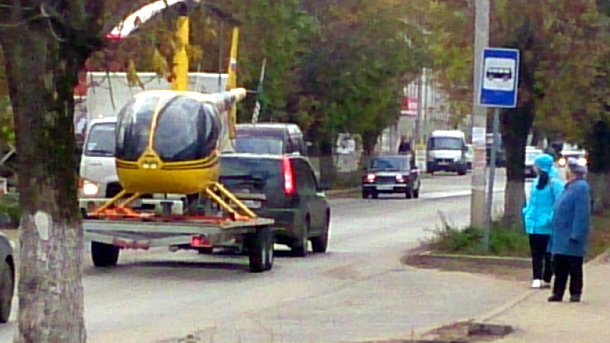 Дачники в Кимрском районе предпочитают жёлтые вертолёты