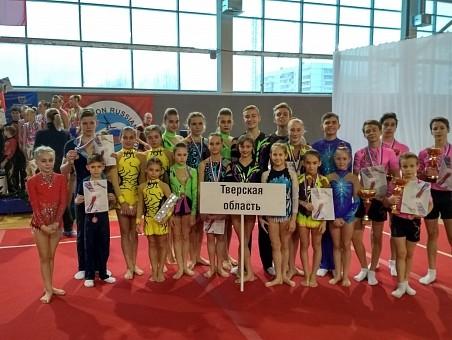 Тверские спортсмены завоевали медали навсероссийских соревнованиях поспортивной акробатике