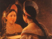 Гадание на суженого на замужество на Рождество под подушку на бумаге с зеркалом