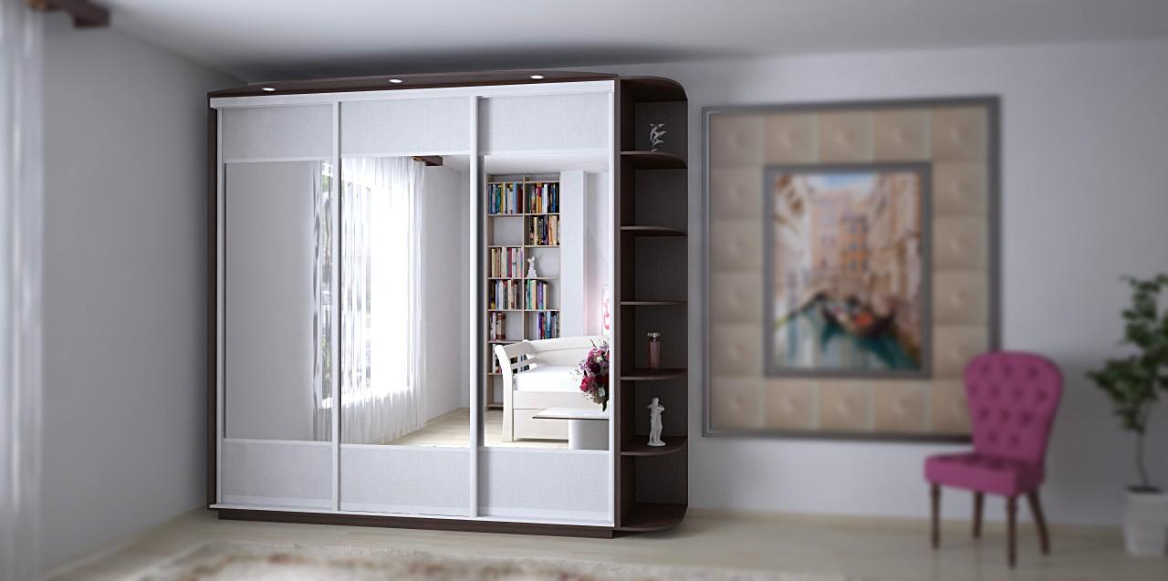 Варианты отделки дверей шкафа-купе: зеркала интернет-магазин.