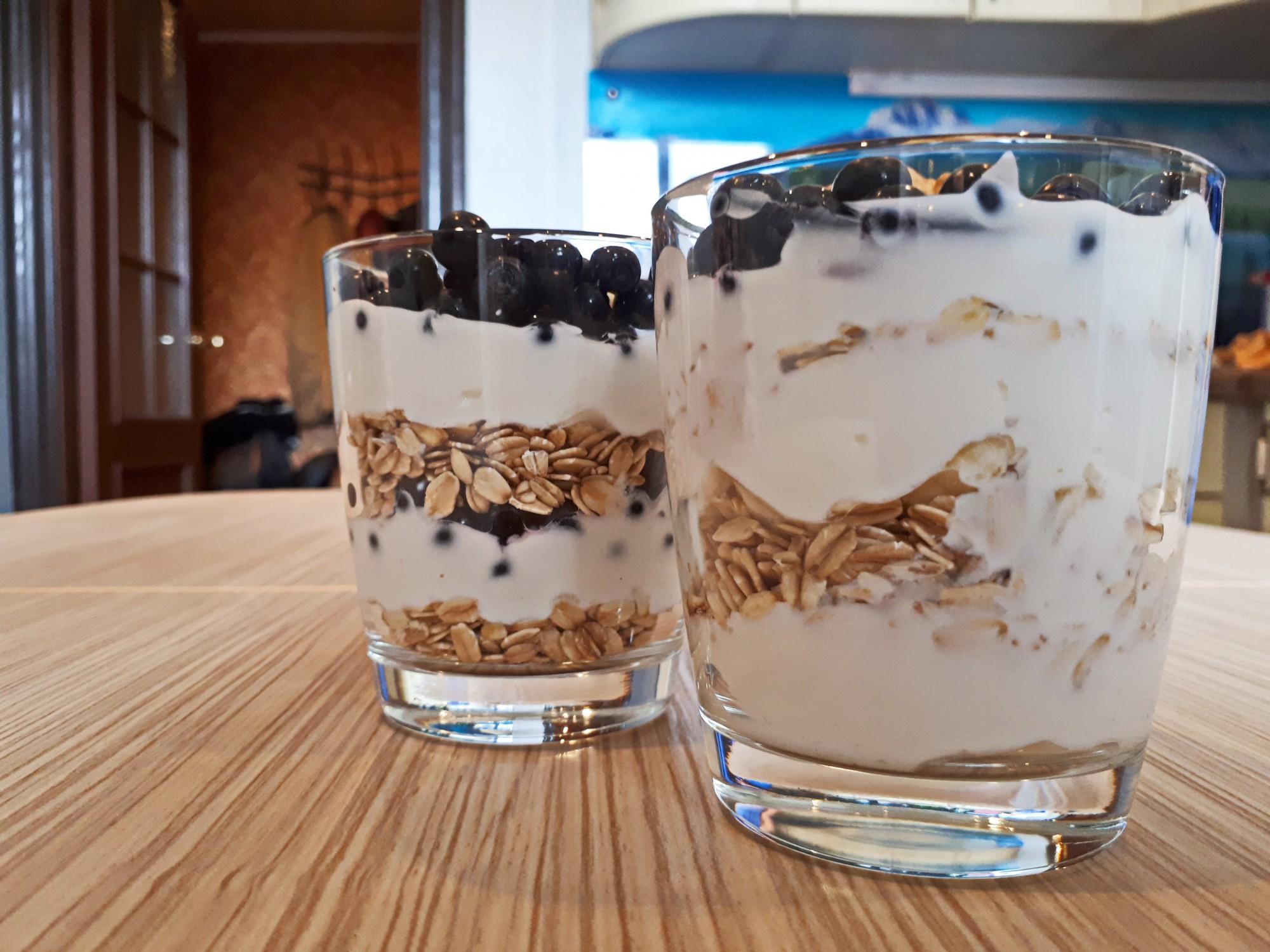 Овсянка с йогуртом